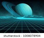 futuristic retro landscape of... | Shutterstock .eps vector #1008078904