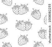 strawberry black outline... | Shutterstock .eps vector #1008082255