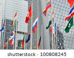 Many National Flag And Busines...
