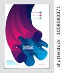 3d flower shape gradient color... | Shutterstock .eps vector #1008083371