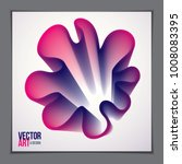 beautiful flower shape with... | Shutterstock .eps vector #1008083395