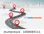 business road map timeline... | Shutterstock .eps vector #1008085111