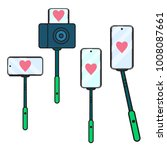 valentine's day. set selfie... | Shutterstock .eps vector #1008087661