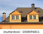 a roof of big city house with... | Shutterstock . vector #1008096811