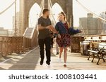 beautiful young man and woman... | Shutterstock . vector #1008103441