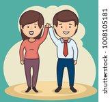 business people holding hands... | Shutterstock .eps vector #1008105181