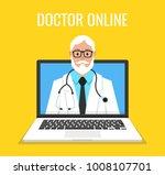 online doctor man character...   Shutterstock .eps vector #1008107701