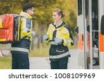 paramedic nurse and emergency... | Shutterstock . vector #1008109969