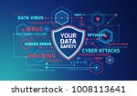 cyber security protection... | Shutterstock .eps vector #1008113641