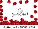 feliz san valentin   happy... | Shutterstock .eps vector #1008114964