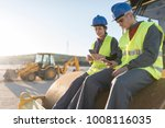 couple of workers taking a... | Shutterstock . vector #1008116035