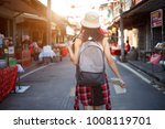 outdoors lifestyle rear view of ... | Shutterstock . vector #1008119701