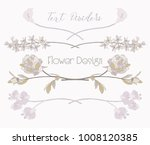 colorful hand drawn floral text ... | Shutterstock .eps vector #1008120385