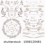collection of floral design... | Shutterstock .eps vector #1008120481
