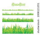 green grass of different heights | Shutterstock . vector #1008121351