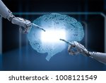 connection concept with 3d... | Shutterstock . vector #1008121549