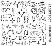 arrow doodles vector. a set of... | Shutterstock .eps vector #1008125719