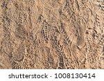 footprints in sand  various...   Shutterstock . vector #1008130414
