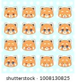emoticons  emoji  smiley set ... | Shutterstock .eps vector #1008130825