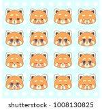 emoticons  emoji  smiley set ...   Shutterstock .eps vector #1008130825