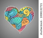 colorful zendoodle style...   Shutterstock .eps vector #1008132721