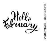 hello february black and white... | Shutterstock .eps vector #1008135841