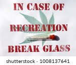 sign with marijuana cigarette... | Shutterstock . vector #1008137641