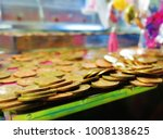 copper coins about to fall in a ... | Shutterstock . vector #1008138625