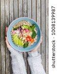 Healthy Quinoa Bulgur Bowl Wit...