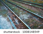 Train Rails With Green Grass...
