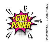 lettering girl power  boom star.... | Shutterstock . vector #1008149839