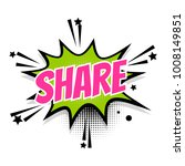 lettering share link boom star. ... | Shutterstock . vector #1008149851