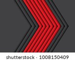 abstract red gray arrow overlap ... | Shutterstock .eps vector #1008150409