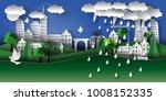 illustration of a paper city... | Shutterstock .eps vector #1008152335