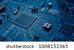 cpu chip on motherboard  ...   Shutterstock . vector #1008152365
