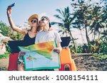 hipster couple posing for... | Shutterstock . vector #1008154111