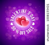 valentines day sale design. a... | Shutterstock .eps vector #1008155431