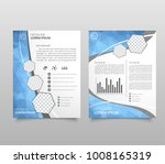brochure template layout  cover ... | Shutterstock .eps vector #1008165319