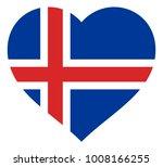 iceland flag in heart vector... | Shutterstock .eps vector #1008166255