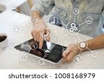 automation and iot  internet of ... | Shutterstock . vector #1008168979