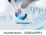 microchip  cpu  processor ... | Shutterstock . vector #1008168991