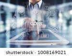 gdpr. data protection...   Shutterstock . vector #1008169021