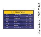 board of departures in airport. ...   Shutterstock .eps vector #1008169465
