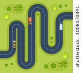 road with cars. moving cars on... | Shutterstock .eps vector #1008170341