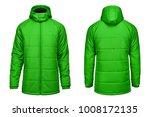 fashion winter green jacket ... | Shutterstock . vector #1008172135