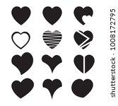 heart icon set  vector hearts... | Shutterstock .eps vector #1008172795