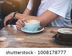 closeup image of a woman... | Shutterstock . vector #1008178777