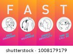 stroke warning signs and... | Shutterstock .eps vector #1008179179