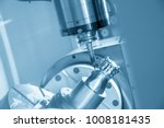 the 5 axis cnc machine cutting... | Shutterstock . vector #1008181435