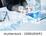 bitcoin currency. exchange rate ... | Shutterstock . vector #1008183691